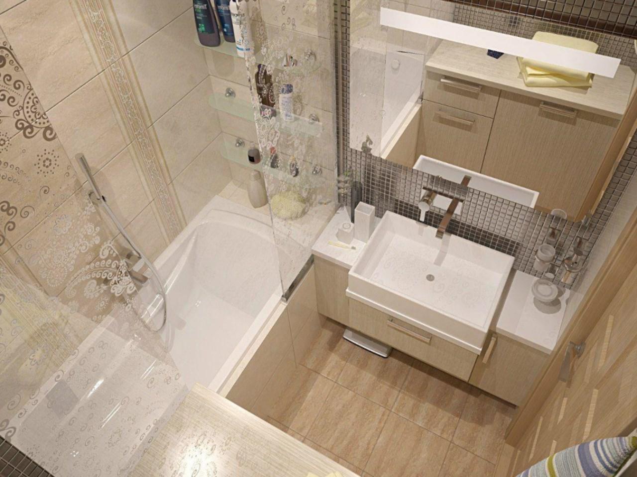 Ванная комната дизайн фото 4 кв