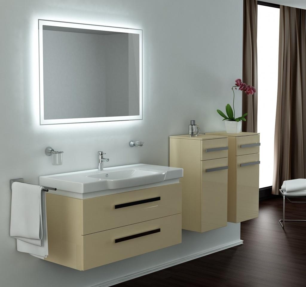 Освещение зеркала в ванной по периметру