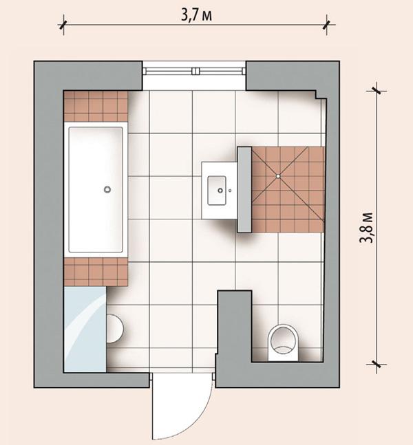 Планировка ванной 14 кв м