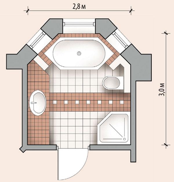 Ванная комната 8,4 кв м
