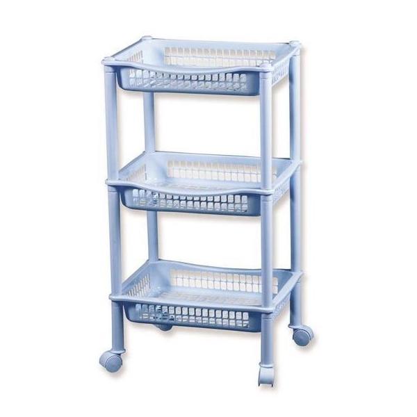 Пластиковая передвижная этажерка