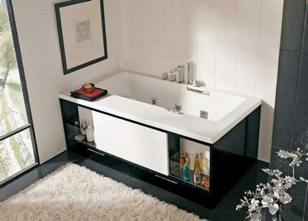 Полочки под ванной для химсредств