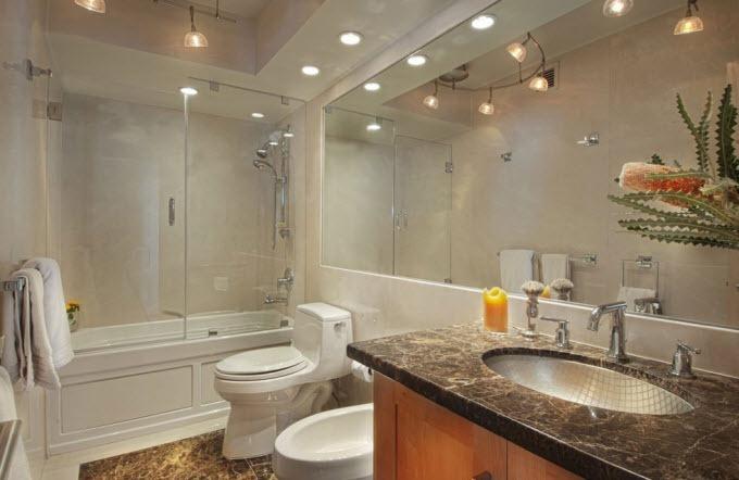 Светильники на потолок для ванной комнаты