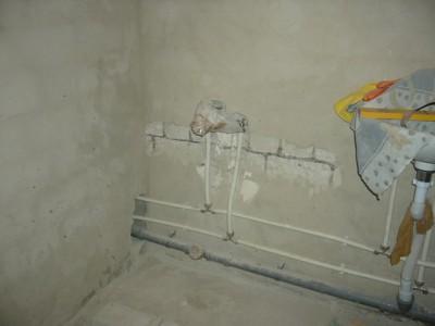 место для установки ванной