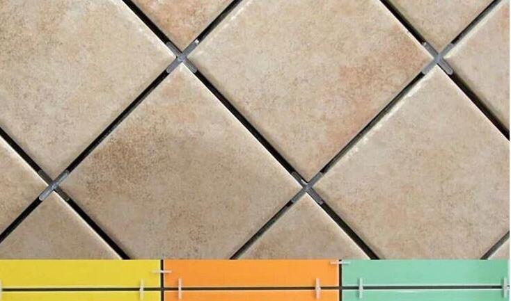 Применение крестиков при укладке плитки