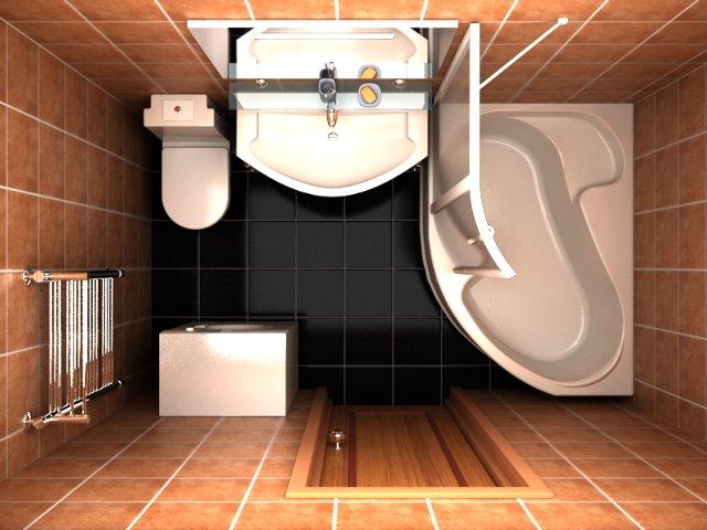 Пример планировки ванной 6 кв м