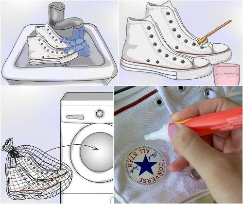 Protsess stirki ked - Как стирать кеды в стиральной машинке