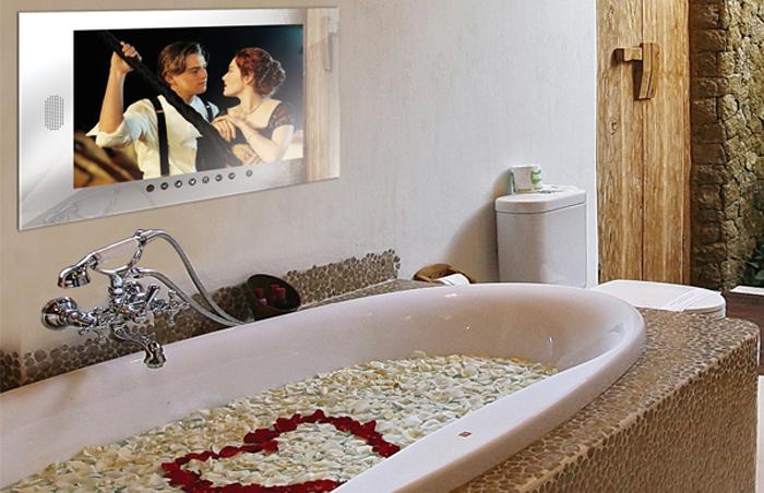 Расположение телевизора в ванной комнате