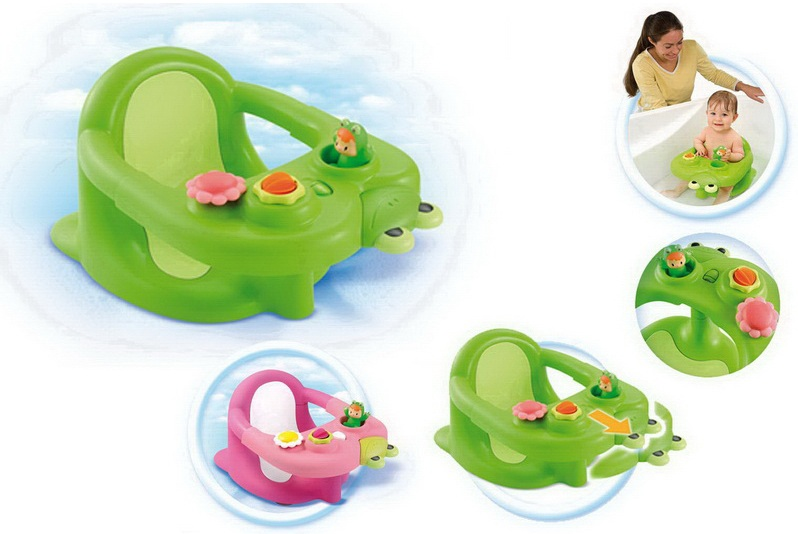 Разноцветные детские сидения для ванной