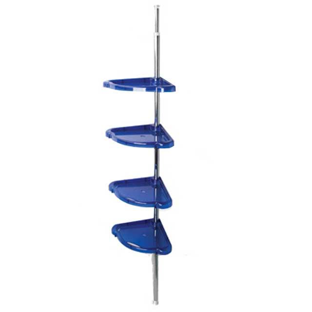 Синяя пластиковая угловая полка