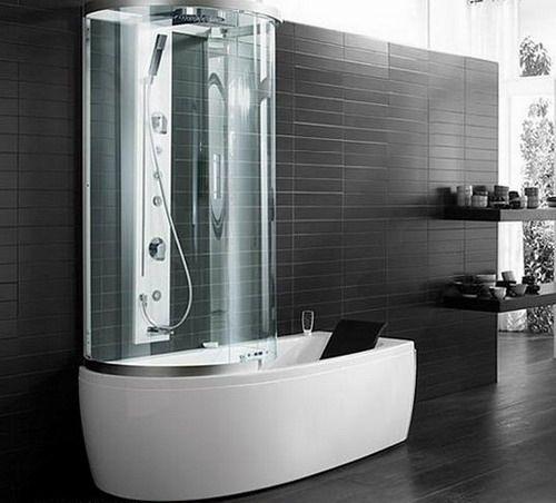 Тандем ванны и душевой кабины