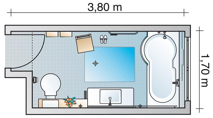 Ванная комната 6,46 кв м