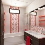 Вариант декорирования окна в ванной