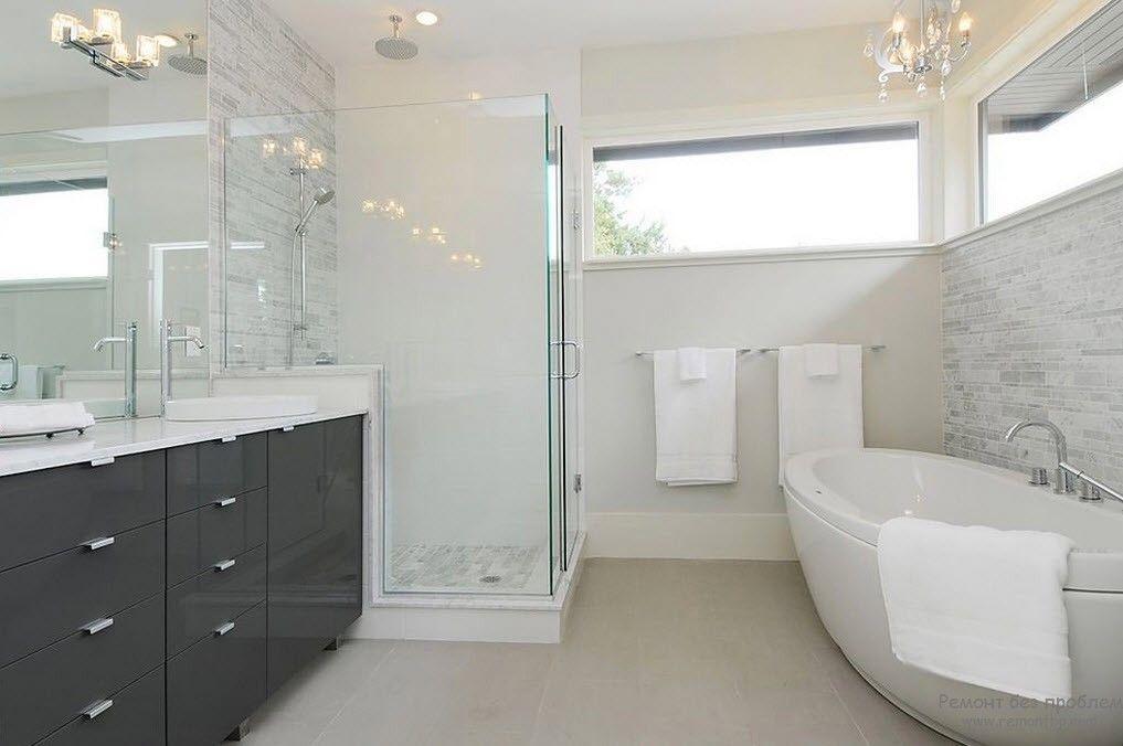 Вариант ванной комнаты в стиле модерн