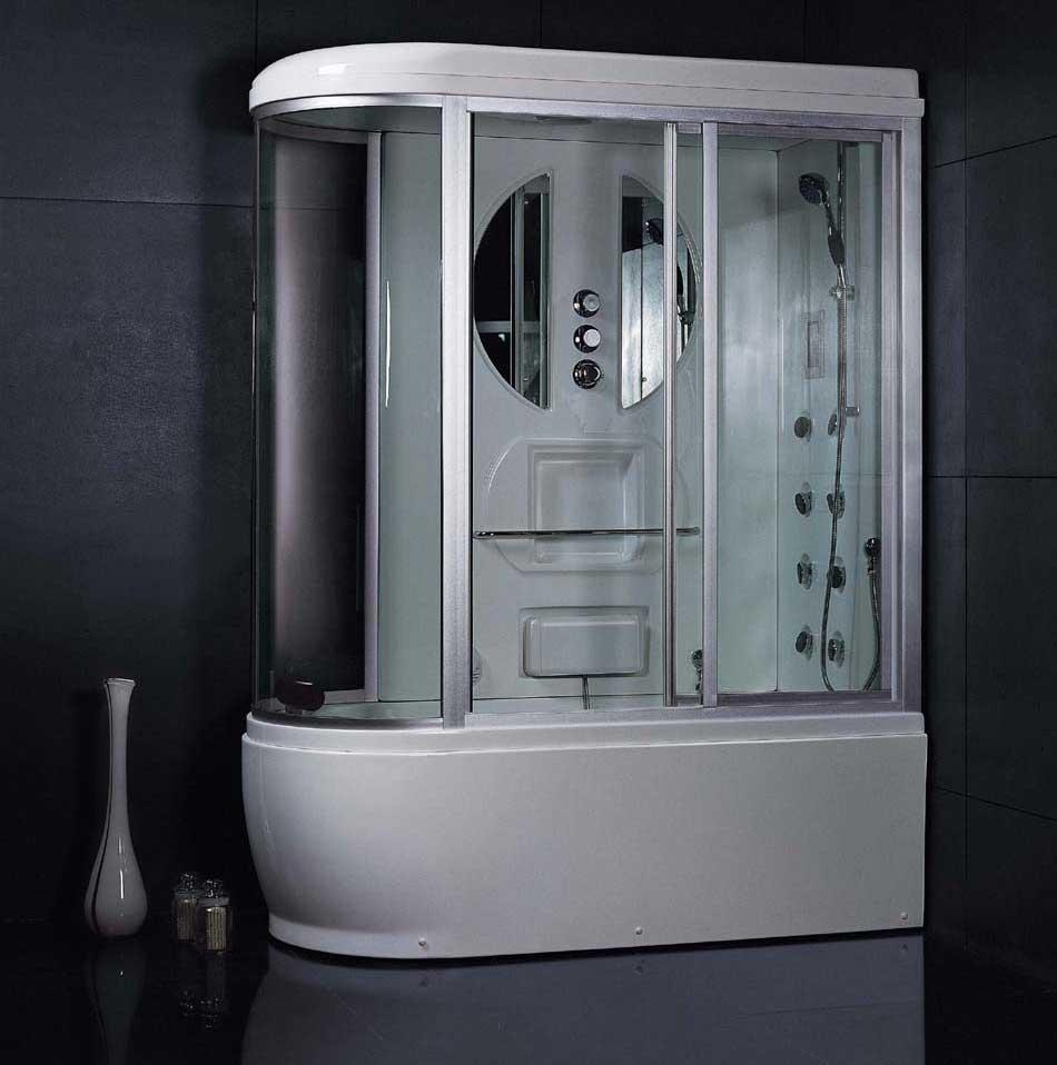 Закрытая душевая кабинка в ванную