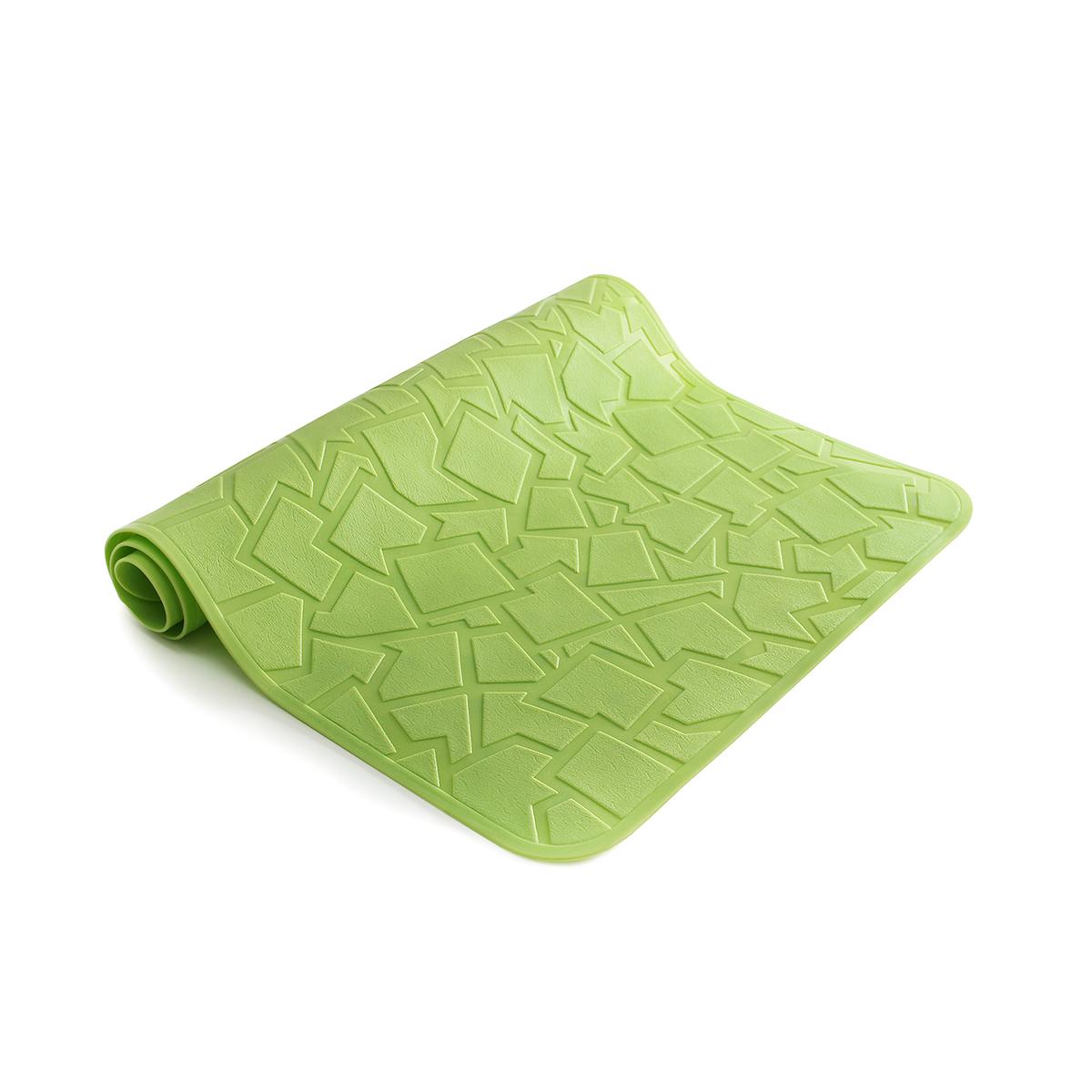 Зеленый резиновый коврик для ванной