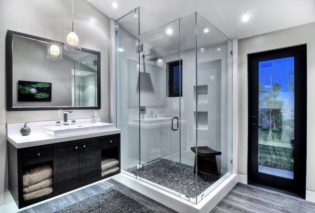 Создаем черно белую ванную