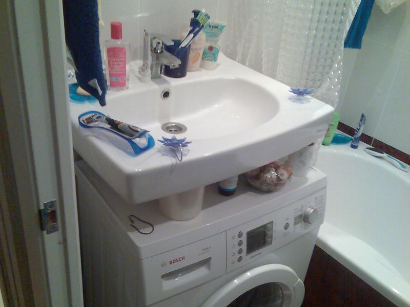 выбор стиралки и раковины в ванную