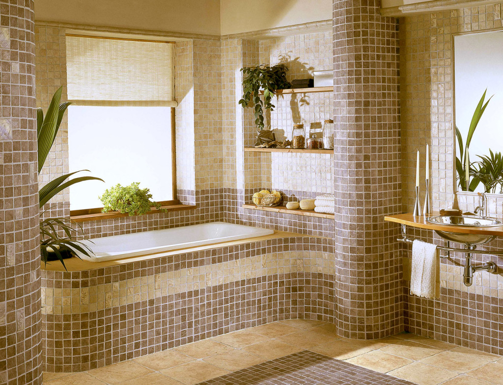 Отделка мозаичной плиткой дизайн