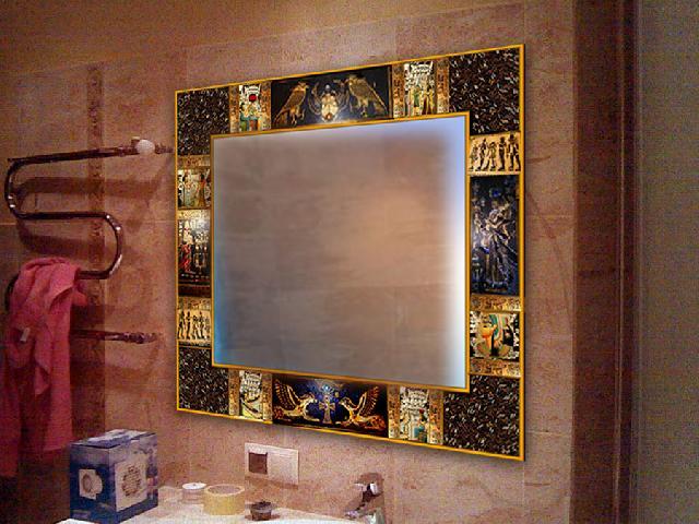 Декор зеркала в ванной комнате