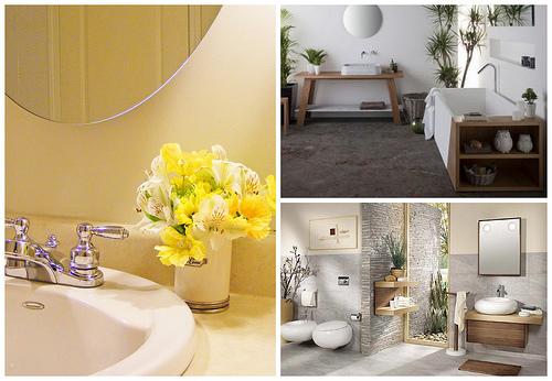 Декорируем ванную комнату растениями