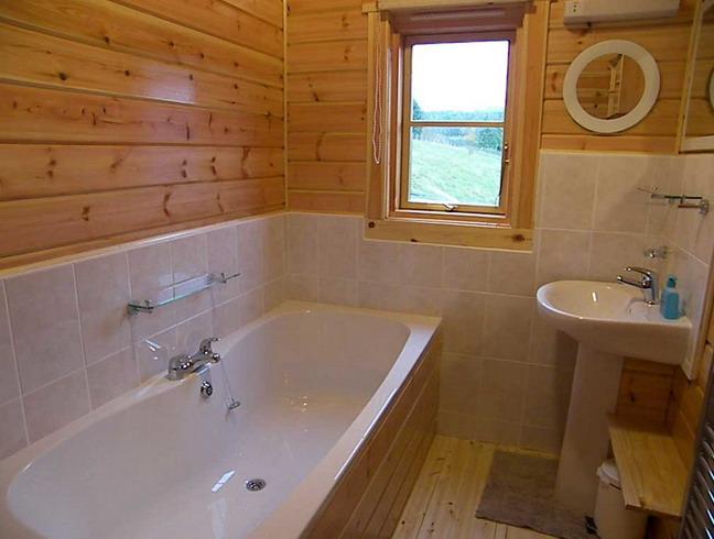 Деревянная вагонка для ванной