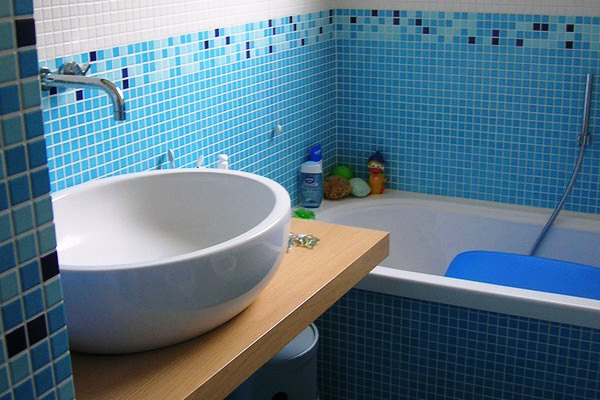 Дизайн ванной комнаты с мозаикой своими руками