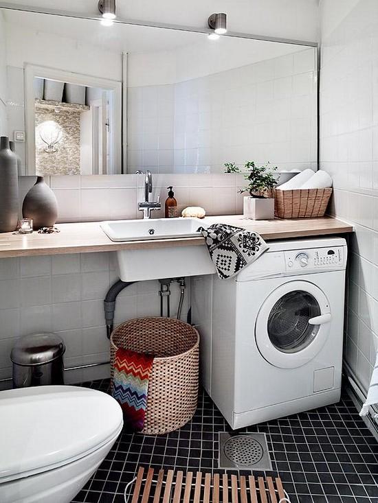 Дизайн ванной со стиральной машиной