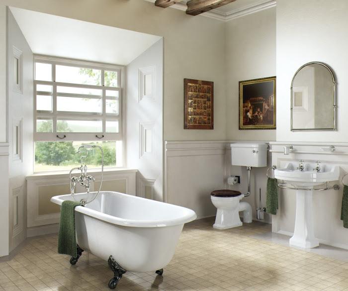 Дизайн ванной объединеной с туалетом в классическом стиле