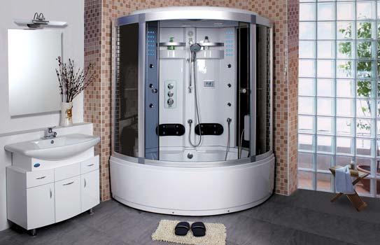 Душевая кабинка в большую ванную комнату