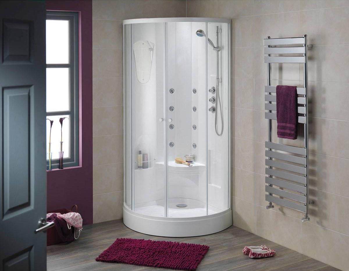 Душевая кабинка в интерьере ванной