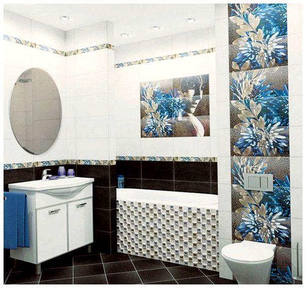 Флористическая композиция в оформлении ванной