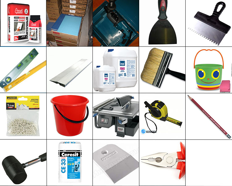 Инструменты для укладки плитки своими руками