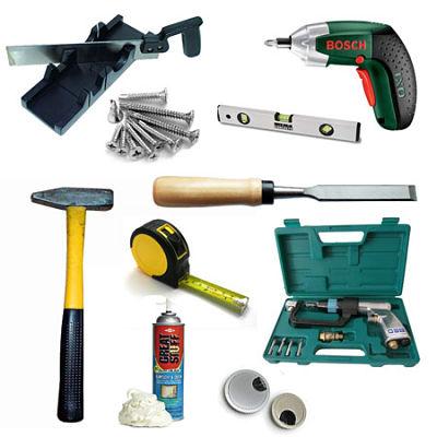 Необходимые для установки двери инструменты