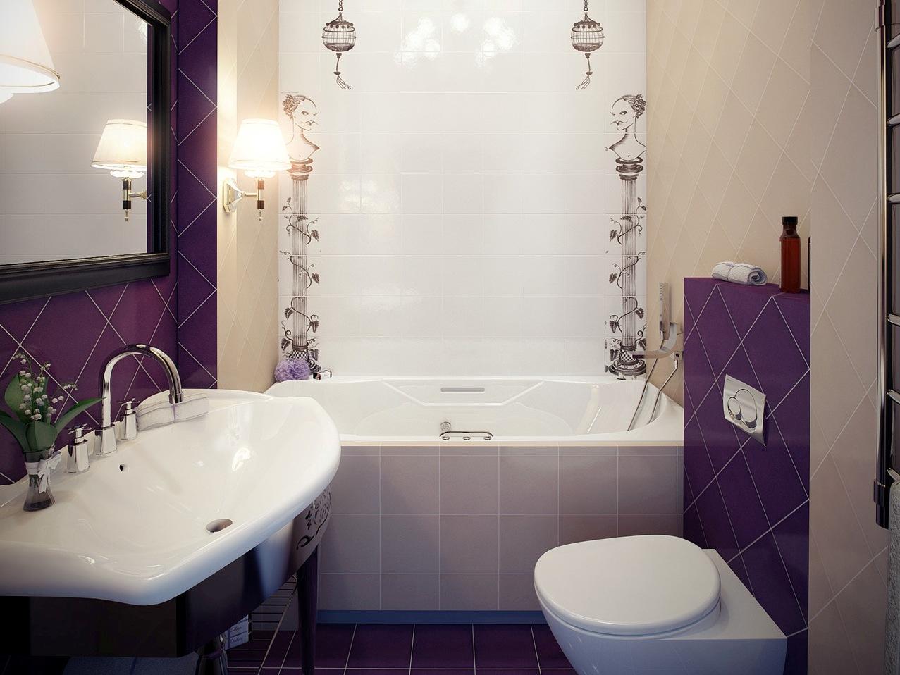 Интерьер маленькой совмещенной ванной комнаты