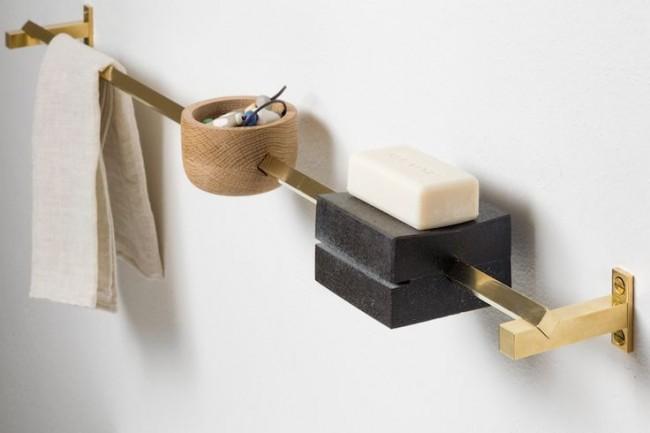 Комбинированный стильный держатель для полотенец и мыла