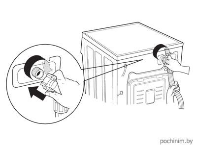 Крепеж наливного шланга к стиральной машинке