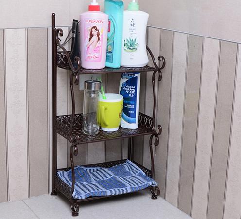Напольный стеллаж с полками в ванную Floor Shelves Triple