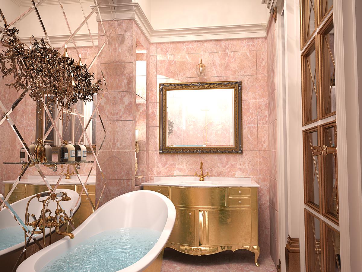 Один из вариантов оформления в прованском стиле ванной комнаты