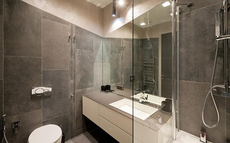 Оформление стандартной ванной с туалетом
