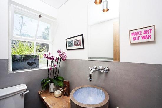 Орхидеи в интерьере ванной комнаты