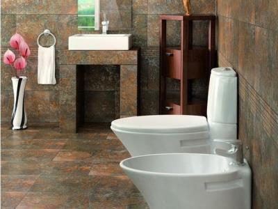 Отделка стен керамогранитом в ванной