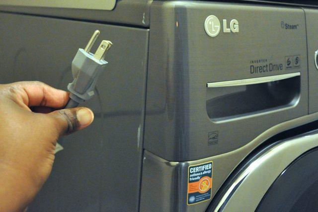 Отключение стиральной машины