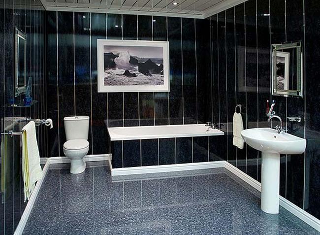 Пластиковые стены в ванной комнате