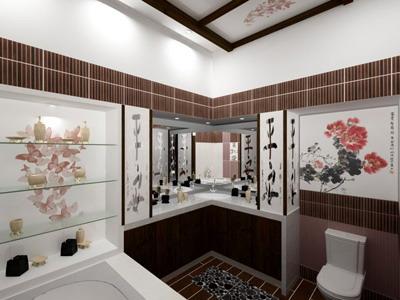 Плитка для ванной в японском стиле