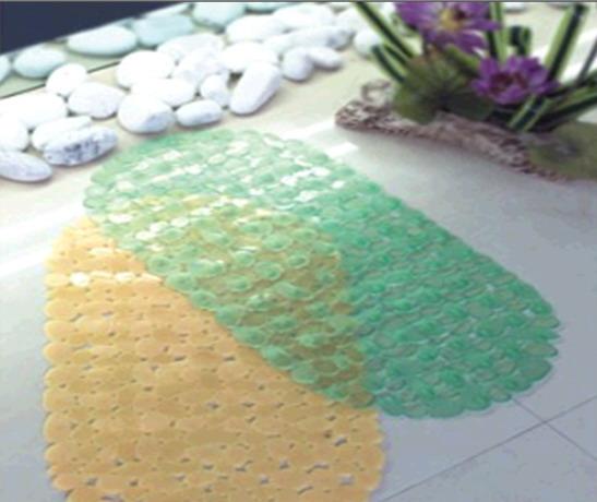 Полупрозрачные резиновые коврики с блестящей поверхностью