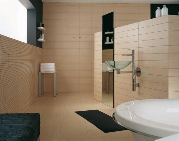 Гипсовая плитка в ванной комнате