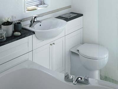 Расположение унитаза и раковины в ванной комнате