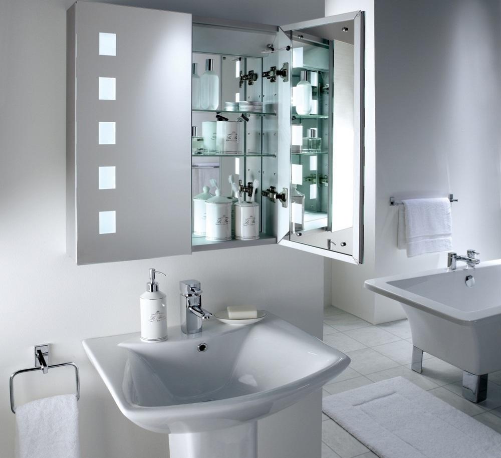 Шкафчики для аксессуаров ванной комнаты