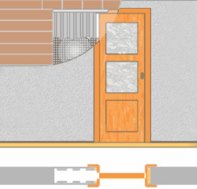 Схема касетных дверей в ванную